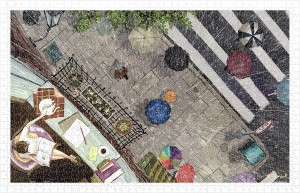 Pintoo 1000 Plastic Puzzle - Endmion1 - Scenery in the Rain