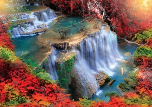 KS GAMES 1000 - Autumn Waterfall