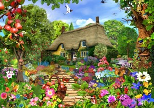 Bluebird Puzzle 1500 - English Cottage Garden