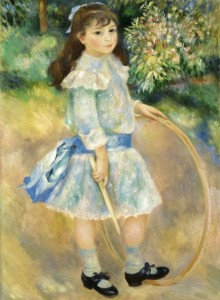Grafika 2000 - Auguste Renoir : Girl with a Hoop, 1885
