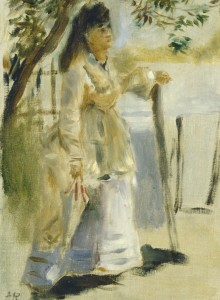 Grafika 2000 - Auguste Renoir: Woman by a Fence, 1866
