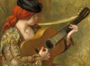 Grafika 2000 - Auguste Renoir : Young Spanish Woman with a Guitar, 1898
