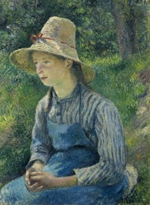 Grafika 2000 - Camille Pissarro: Peasant Girl with a Straw Hat, 1881