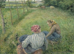 Grafika 2000 - Camille Pissarro: Young Peasant Girls Resting in the Fields near Pontoise, 1882