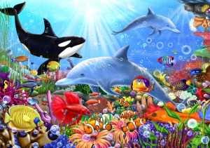 Bluebird Puzzle 1500 - Bright Undersea World