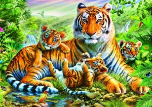 Bluebird Puzzle 1500 - Tiger and Cubs