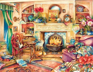 SunsOut 1000 - Kim Jacobs - Fireside Embroidery