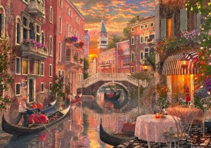 Bluebird Puzzle 1500 - Dominic Davison, An Evening Sunset In Venice