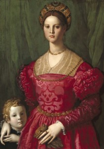 Grafika 1000 - Agnolo Bronzino: A Young Woman and Her Little Boy, 1540