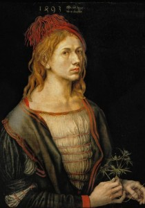 Grafika 1000 - Albrecht Dürer - Self-portrait, 1493