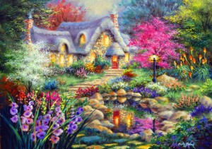 Bluebird Puzzle 1500 - Nicky Boehme, Cottage Pond