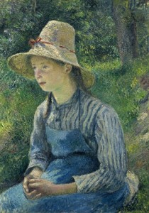 Grafika 1000 - Camille Pissarro: Peasant Girl with a Straw Hat, 1881