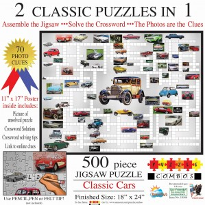 SunsOut 500 - Irv Brechner - Puzzle Combo: Classic Cars