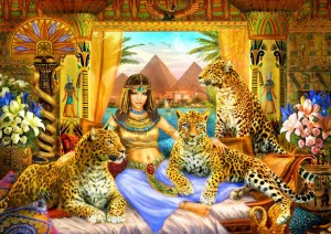 Bluebird Puzzle 2000 - Egyptian Queen of the Leopards