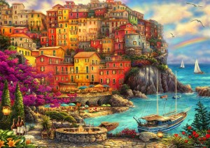Bluebird Puzzle 2000 - Chuck Pinson, A Beautiful Day at Cinque Terre