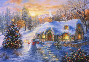 Bluebird Puzzle 2000 - Nicky Boehme, Christmas Cottage