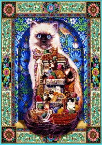 Bluebird Puzzle 1500 - Lewis T. Johnson, Cats Galore