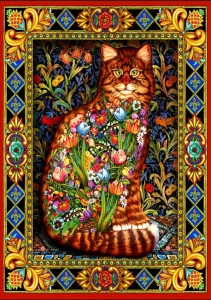 Bluebird Puzzle 1500 - Lewis T. Johnson, Tapestry Cat