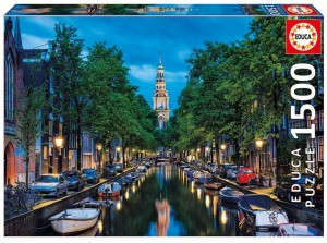 Educa 1500 - Amsterdam Canal at Dusk, The Netherlands