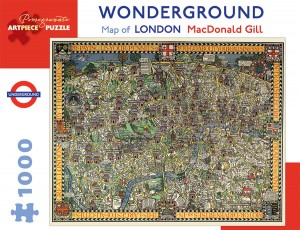 Pomegranate 1000 - MacDonald Gill - Wonderground Map of London