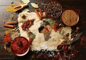 Grafika 3900 - World map in Spices