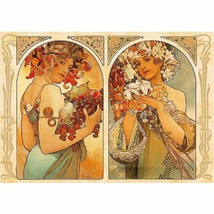 D-Toys 1000 - Alphonse Mucha : Fruit and Flower