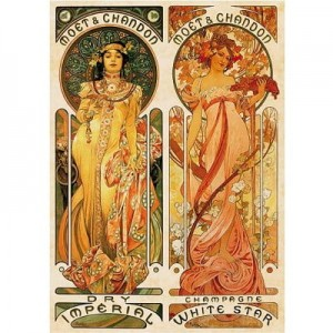 D-Toys 1000 - Alphonse Mucha : Moet and Chandon, Cremant Imperial
