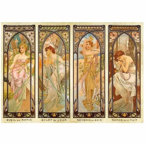 D-Toys 1000 - Alphonse Mucha : Times of Day