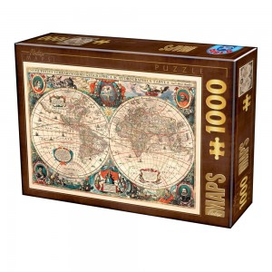 D-Toys 1000 - Antique World Map