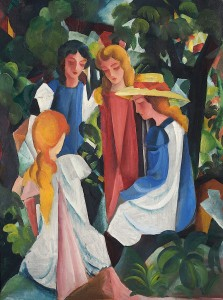D-Toys 1000 - August Macke: Four Girls