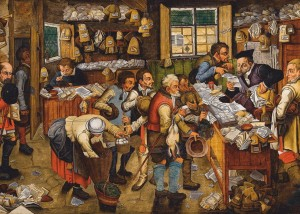 D-Toys 1000 - Brueghel Pieter the Younger: The Payment of the Tithes, 1617-1622