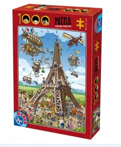 D-Toys 1000 - Cartoon Collection - Construction de la Tour Eiffel