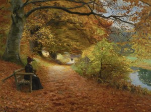 D-Toys 1000 - Hans Andersen Brendekilde: A Wooded Path in Autumn