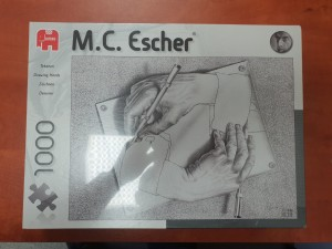 Jumbo 1000 - M.C. Escher - Drawing Hands