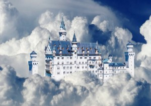 Bluebird Puzzle 500 - Neuschwanstein Castle in Clouds