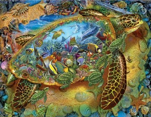 SunsOut 1000 - Lewis T. Johnson - Sea Turtle World