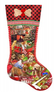 SunsOut 800 XXL - Lori Schory - Puppy Stocking