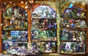 SunsOut 1000 - Alixandra Mullins - Enchanted Fairytale Library