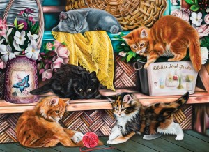 SunsOut 1000 - Image World - Playful Kittens