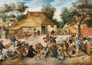Grafika 1000 - Pieter Brueghel - The Peasant Wedding, 1568