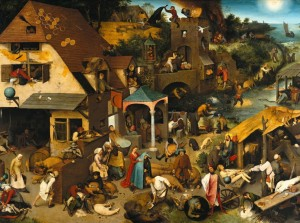 Grafika 2000 - Pieter Brueghel - The Dutch Proverbs, 1559
