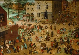 Grafika 1000 - Pieter Brueghel - Children's Games, 1560