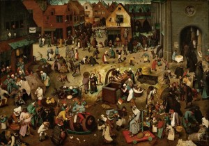Grafika 1000 - Pieter Brueghel - The Fight Between Carnival and Lent, 1559