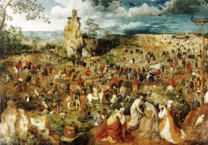 Grafika 1000 - Pieter Brueghel - The Procession to Calvary, 1564