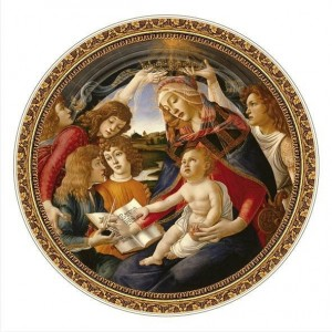 D-Toys 525 - Round - Masters of the Renaissance - Botticelli : Madonna del Magnifica