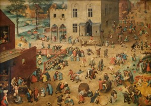 Grafika 1500 - Pieter Brueghel - Children's Games, 1560