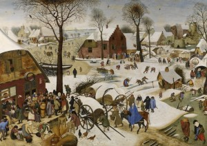 Grafika 1500 - Pieter Brueghel - Numbering at Bethlehem
