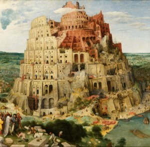 Grafika 1500 - Pieter Brueghel - Tower of Babel, 1563