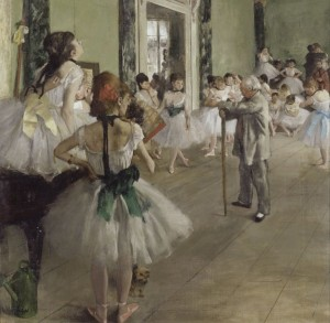 Grafika 1500 - Edgar Degas : The dance class, 1871-1874