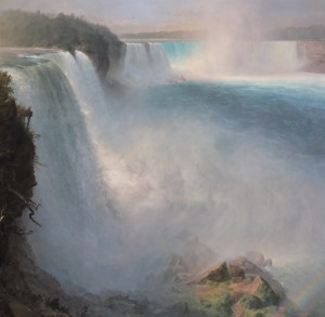 Grafika 1500 - Frederic Edwin Church : Niagara Falls - American Side, 1867